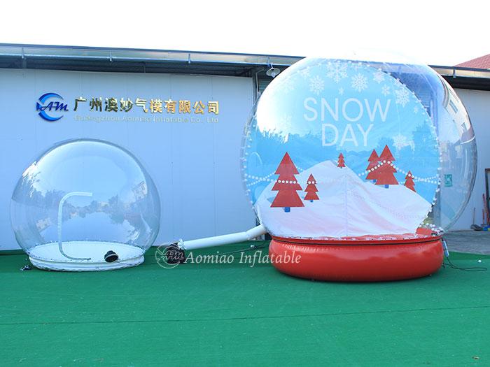 lighted snow globe
