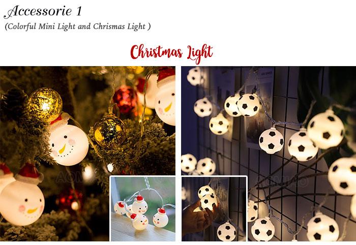 christmas lighted snow globe