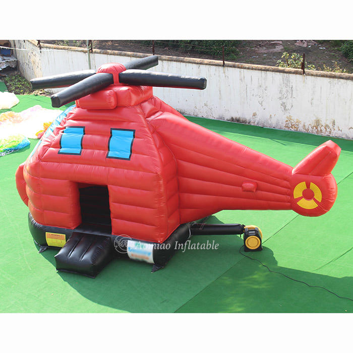 Custom Commercial Helicopter Inflatable Bounce House For Sale - BO1794