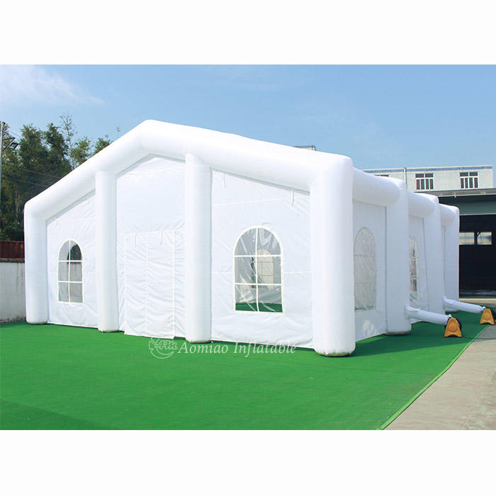 10m x 10m White Large LED Inflatable Wedding Tent Inflatable Lawn Tent
