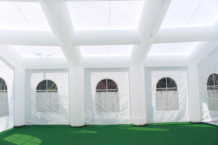 large inflatable tent