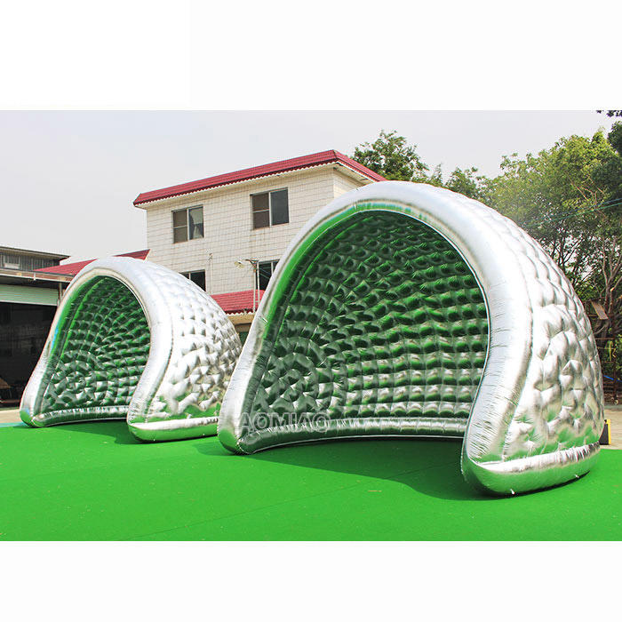 6mL x 4.5mW Large Outdoor Silver Half Moon Inflatable Event Tent Camping Tents