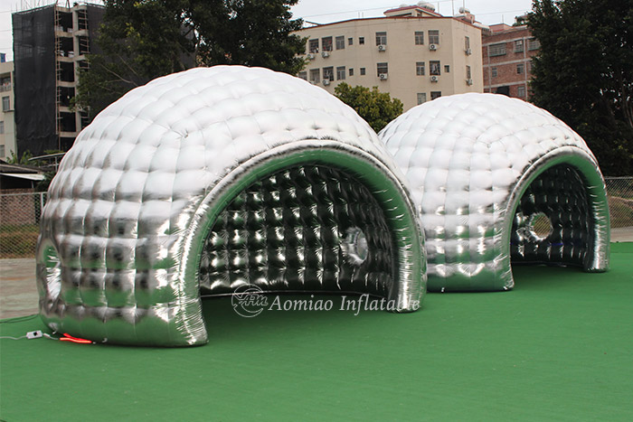 LED inflatable dome tent