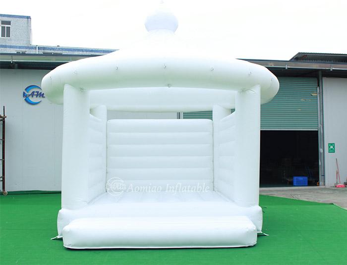 white bounce house