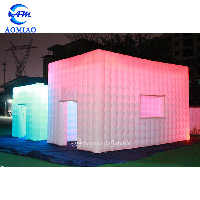 LED White Inflatable Marquee Cube Tent
