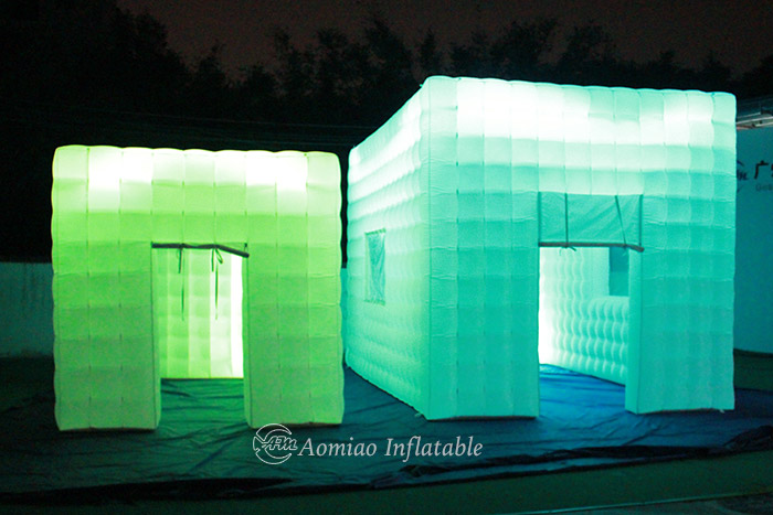 LED Inflatable Cube Tent