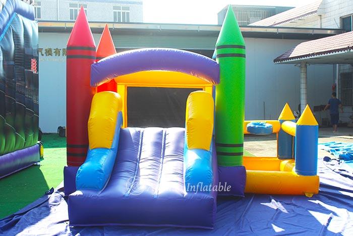 Bounce House With Basketball Hoop