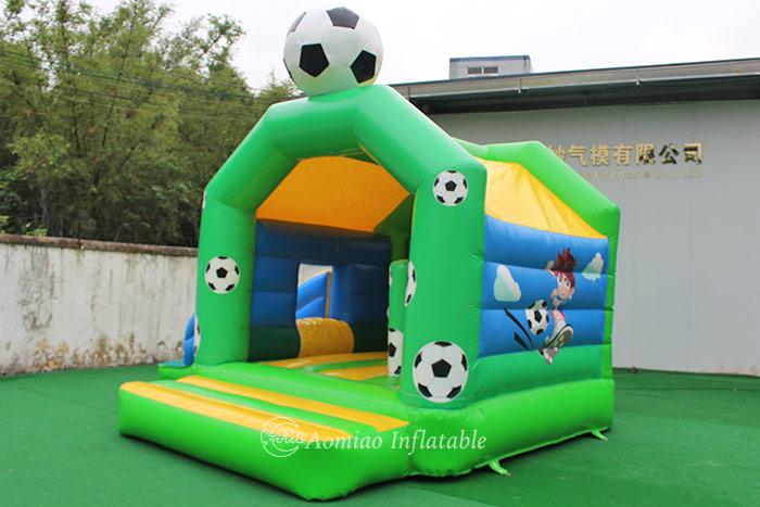 Football bouncy castle slide combo for sale