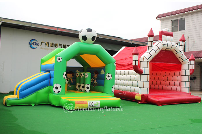 inflatable bouncy castle and slide