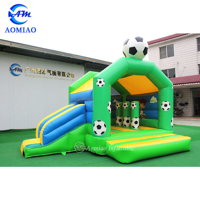 Football Bouncy Castle Slide Combo