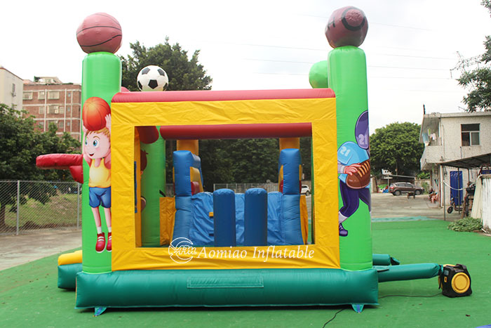 jump house with slide