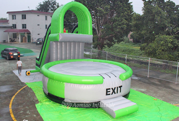 Safe Giant Inflatable Slide And Jumping Bag