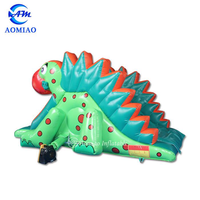 Green Dinosaur Kids Inflatable Slide