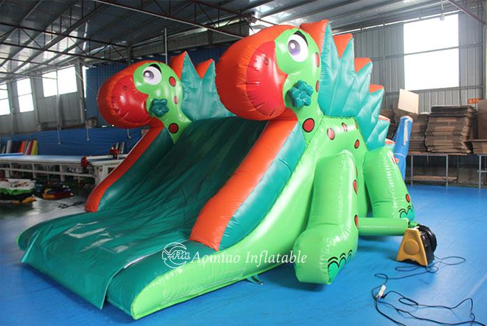 Green Dinosaur Inflatable Slide