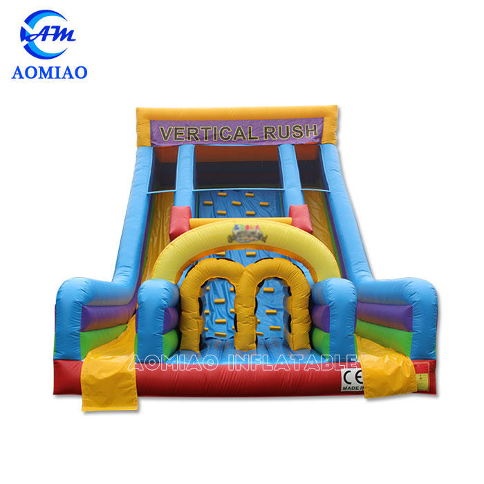 Colorful Kids Inflatable Slide With Climbing Wall