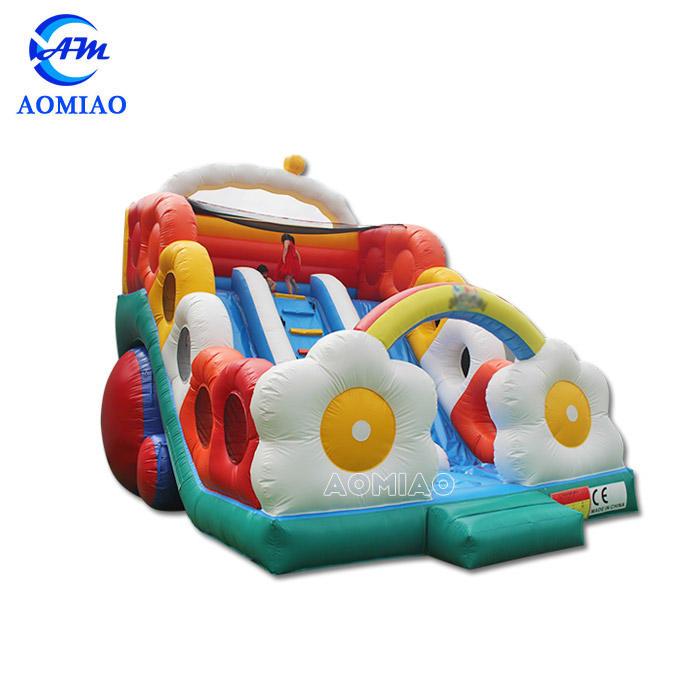 Big Rainbow Inflatable Slide For Kids