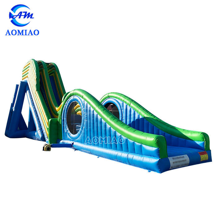 Huge Inflatable Flying Water Slides With Jumping Air Bag