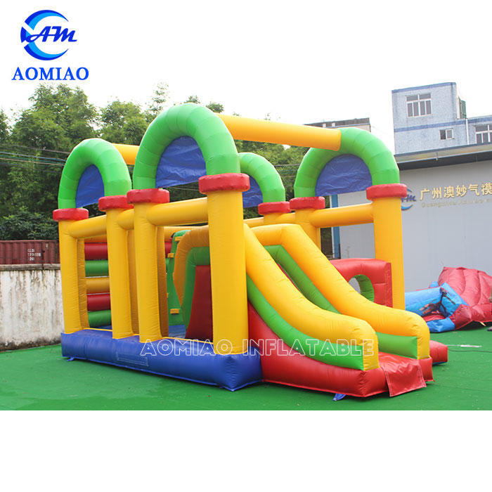 Colorful Bounce House Slide Combo