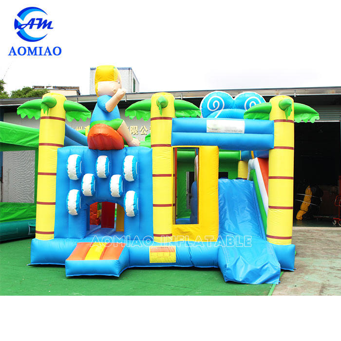 Surfing Bouncy Castle Slide Combo