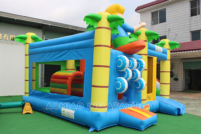 Surfing Bouncy Castle Slide