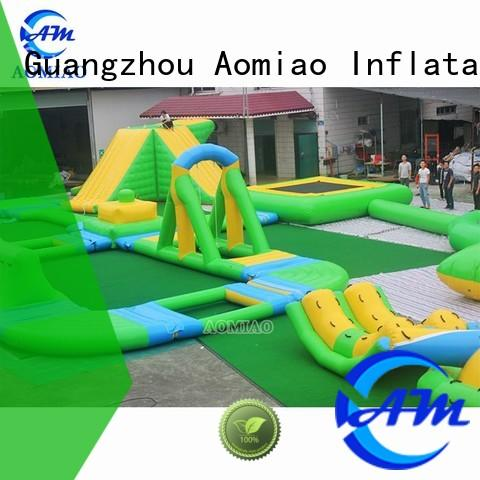 AOMIAO classic shape Inflatable Water Trampoline supplier for lake