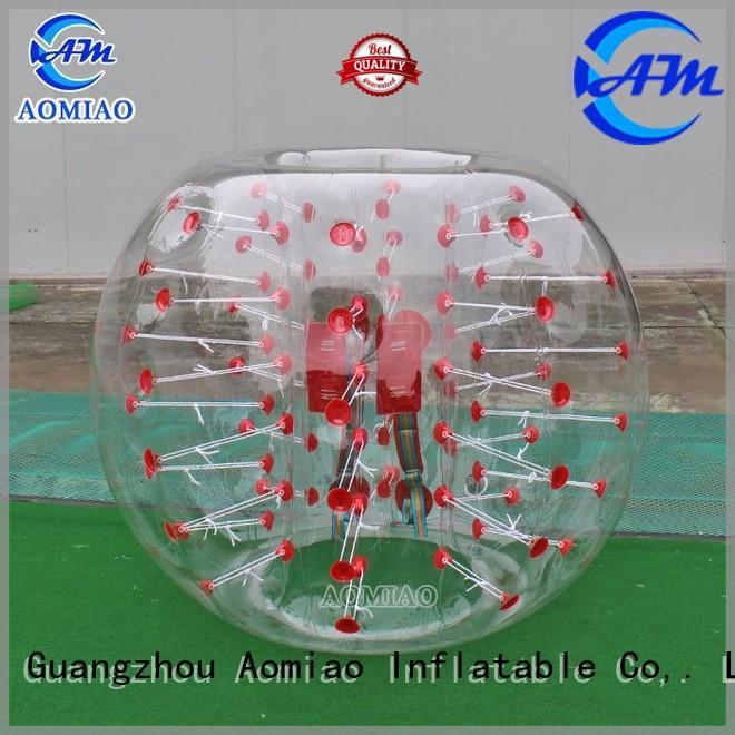 Custom inflatable half bubble ball AOMIAO clear