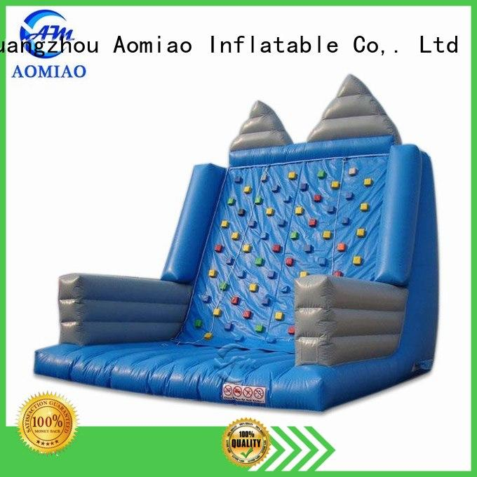 AOMIAO climbing inflatable rock wall factory for child
