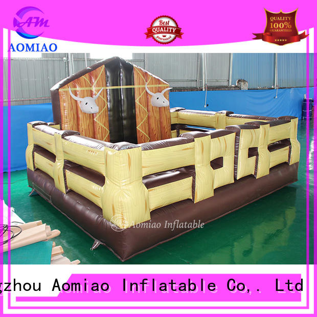 AOMIAO inflatable mechanical bull producer for sale