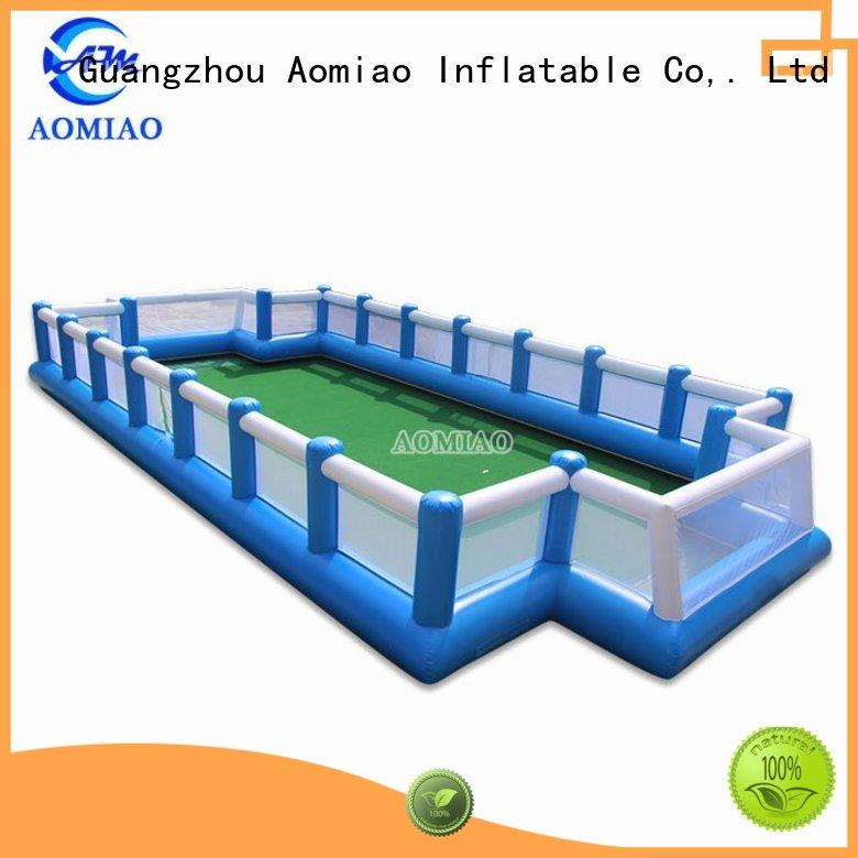 AOMIAO most popular inflatable football field supplier for sale