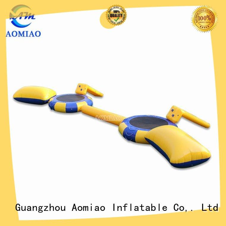 AOMIAO new fun inflatable water park manufacturer for lake