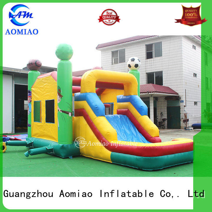 AOMIAO hot selling inflatable bouncers with slide factory for sale