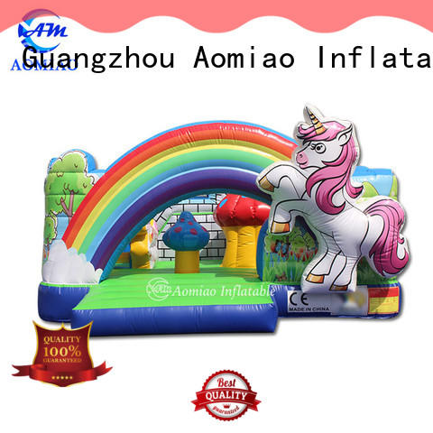 AOMIAO house inflatable bouncers with slide producer for sale