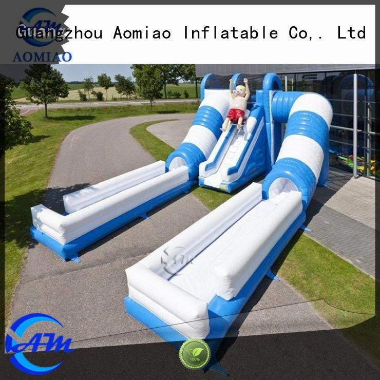 single blue pool inflatable slide AOMIAO Brand company