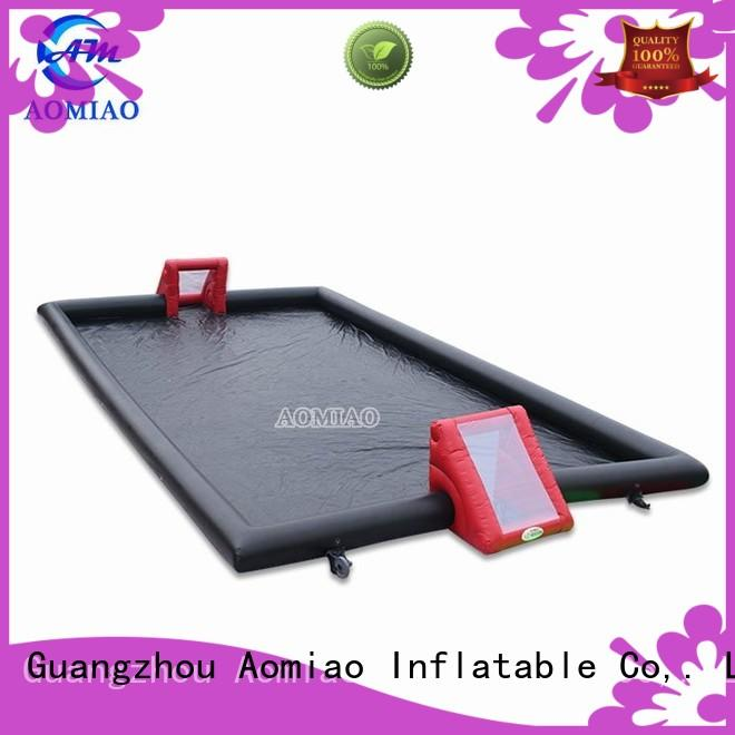 AOMIAO soccer inflatable football pitch supplier for sale