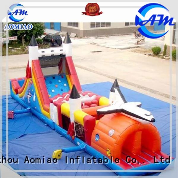 AOMIAO inflatable commercial inflatable obstacle course factory for youth