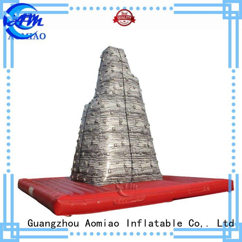 AOMIAO cl1702 inflatable climbing wall factory