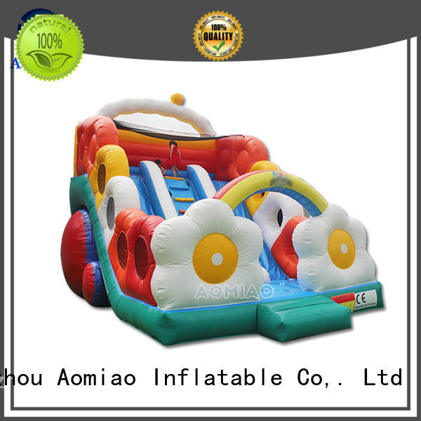AOMIAO new design backyard pool water slide supplier for sale