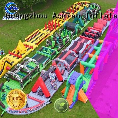AOMIAO new home obstacle course factory for parties