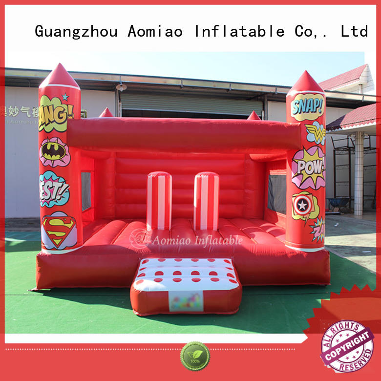 AOMIAO cow bouncy castle factory for outdoor