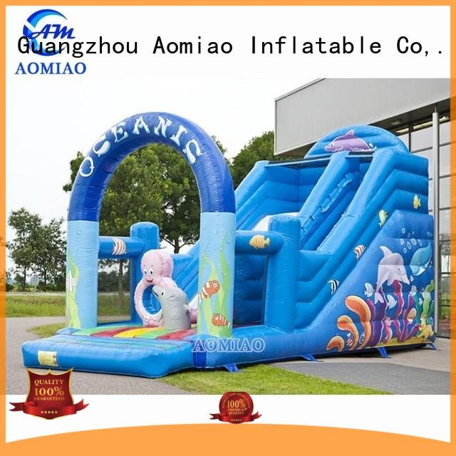 AOMIAO Brand big sale single custom water slides for sale
